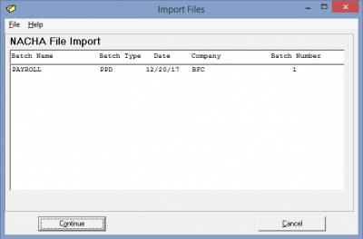 ACH File Import